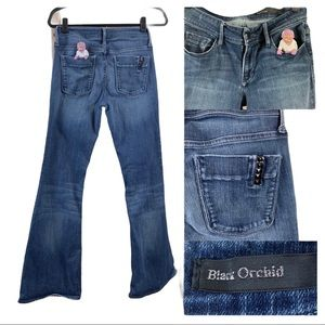 Black Orchid Mid-Rise Flare Light wash 27 Jeans